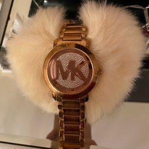 MK Rose Gold Diamond Watch